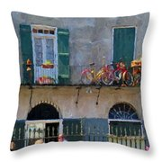 French Quarter Stroll 2 - New Orleans Throw Pillow