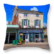 French Quarter Stroll New Orleans Throw Pillow