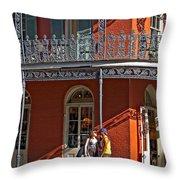 French Quarter Tete A Tete Throw Pillow