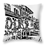French Quarter - The Final Ride Throw Pillow