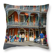 French Quarter Wandering 3 Throw Pillow