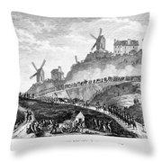 French Revolution Paris Throw Pillow
