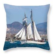 French Shooner Alicante Throw Pillow