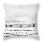 French Squadron, 1778 Throw Pillow