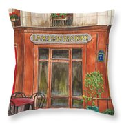 French Storefront 1 Throw Pillow