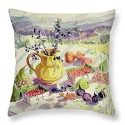 French Table Throw Pillow by Elizabeth Jane Lloyd