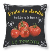 French Vegetables 1 Throw Pillow