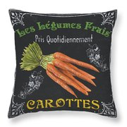 French Vegetables 4 Throw Pillow by Debbie DeWitt