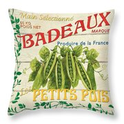 French Veggie Sign 1 Throw Pillow by Debbie DeWitt