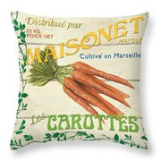 French Veggie Sign 2 Throw Pillow