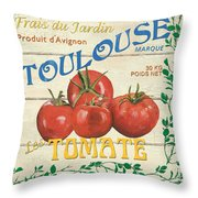 French Veggie Sign 3 Throw Pillow