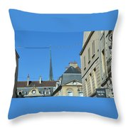 French Village Shops  Throw Pillow