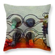 French Wine Rack Throw Pillow