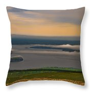 Frenchman Bay And The Porcupine Islands Throw Pillow