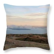 Frenchmans Bay From Cadillac Mountain Throw Pillow