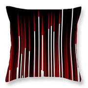 Frequency Red Throw Pillow