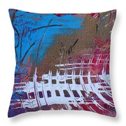 Frequency Static Throw Pillow