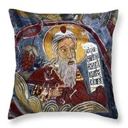 Fresco At The Sumela Monastery Turkey Throw Pillow by Robert Preston