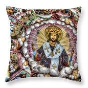 Fresco From Rila Monastery  Throw Pillow