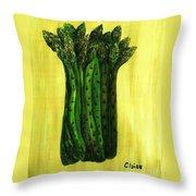 Fresh Asparagus Throw Pillow