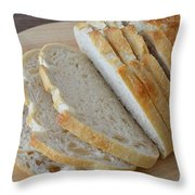 Fresh Baked Sourdough Throw Pillow by Mary Deal