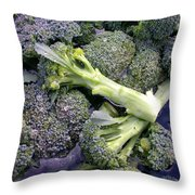 Fresh Broccoli Throw Pillow