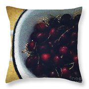 Fresh Cherries Throw Pillow