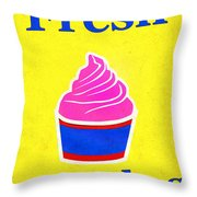 Fresh Cupcakes Throw Pillow