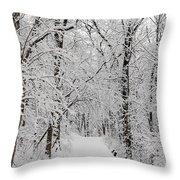 Fresh Fallen Snow Throw Pillow