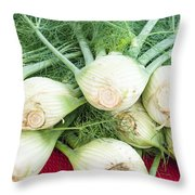 Fresh Fennel At The Market Throw Pillow