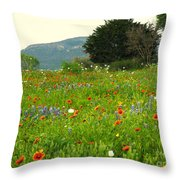 Fresh Flowers Throw Pillow