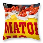 Cedar Park Texas Fresh Tomatoes Throw Pillow