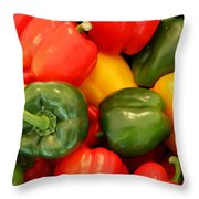 Fresh From The Market - Sweet Peper Mix Throw Pillow