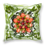 Fresh Fruit Salad Throw Pillow