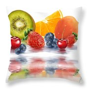 Fresh Fruits Throw Pillow