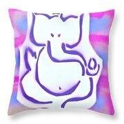 Fresh Ganesh 3 Throw Pillow by Tony B Conscious