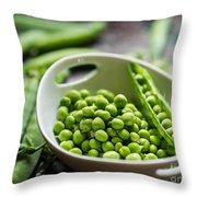 Fresh Garden Peapods Throw Pillow