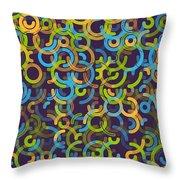 Fresh Geometric Circle Segment Pattern Throw Pillow