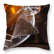 Fresh Glass Cup Of Tea Throw Pillow