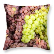 Fresh Grapes On Display Throw Pillow