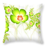 Fresh Green Throw Pillow