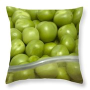 Fresh Green Peas Throw Pillow
