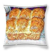 Fresh Homemade Bread 2 Throw Pillow