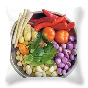 Fresh Ingredients For Cooking Curry Sauce Throw Pillow