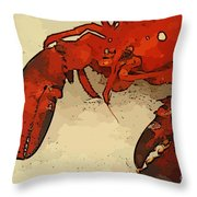 Fresh Lobster Throw Pillow