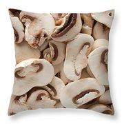 Fresh Mushrooms Throw Pillow