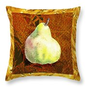 Fresh N Happy Pear Decorative Collage Throw Pillow