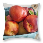 Fresh Nectarines Throw Pillow