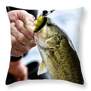 Fresh On The Hook Throw Pillow