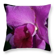 Fresh Orchid Throw Pillow